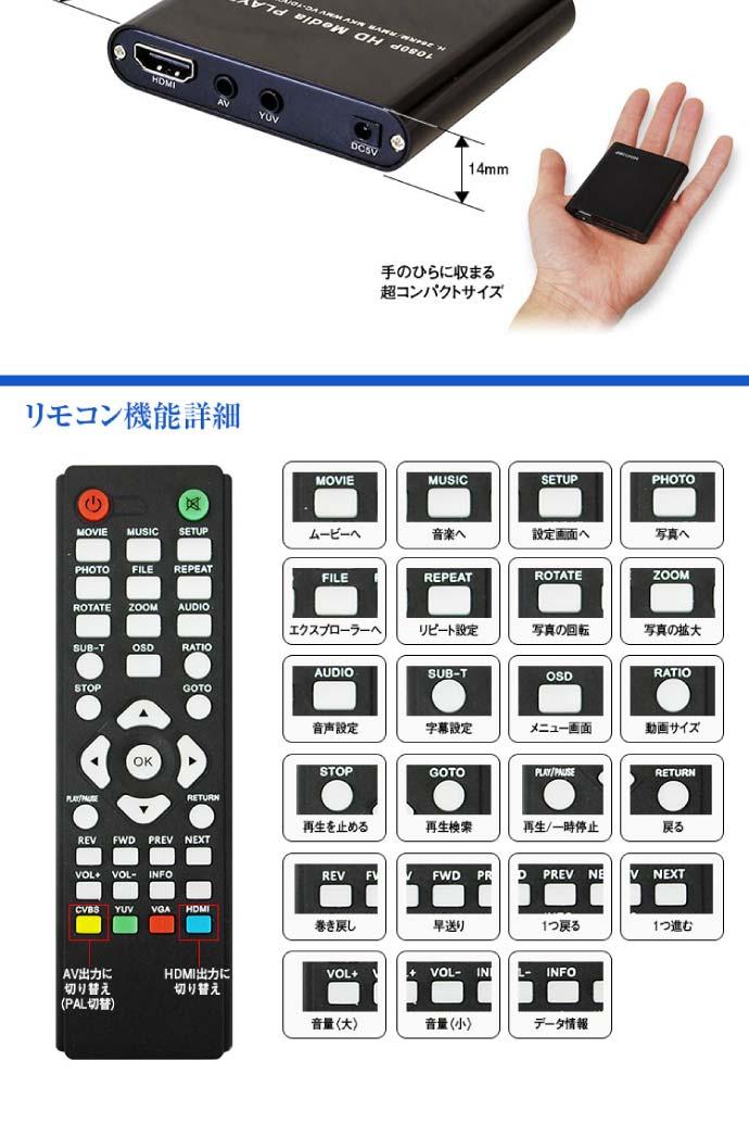 純正ナビでSD USBメモリ 動画 音楽 再生プレーヤー AV-HD03