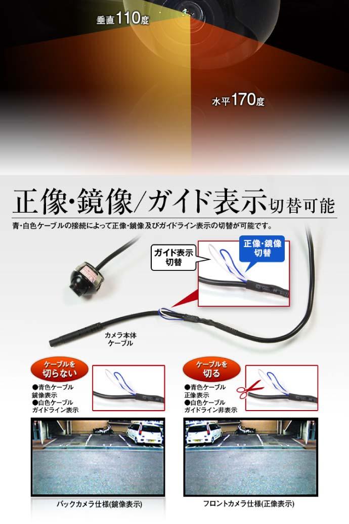 バックカメラ 超小型埋め込み式 高解像度CMOS CAM16A