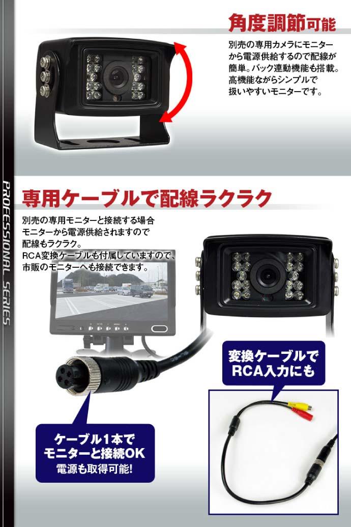 トラック用高機能バックカメラ DC12V 24兼用 SV2-CAM02