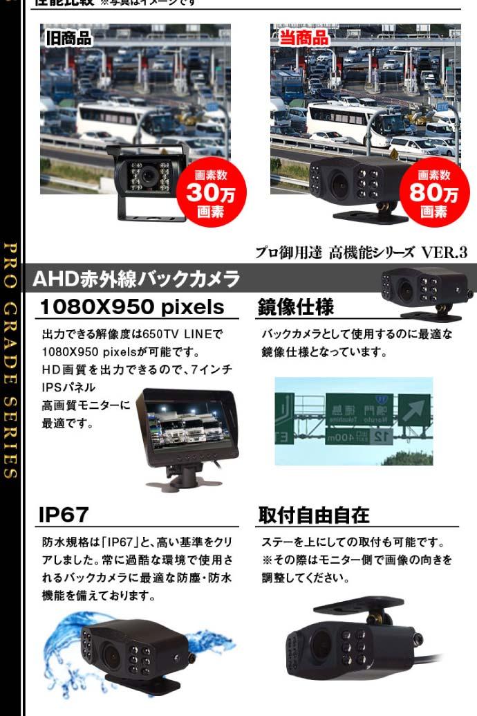 トラック用高機能バックカメラ AHD COMS