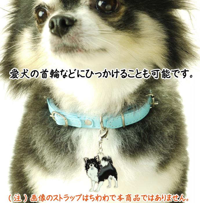 愛犬ストラップ金属チャーム 使用例