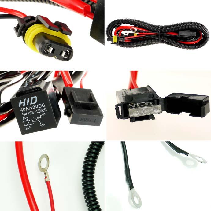 リレーハーネス HID電圧不足解消電源安定用