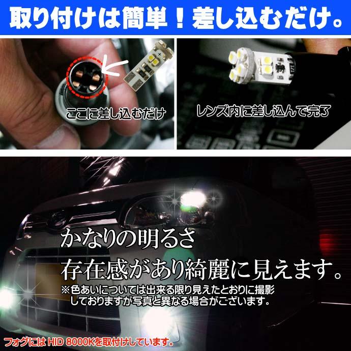 キャンセラー付8連LEDバルブT10ホワイト 8SMD