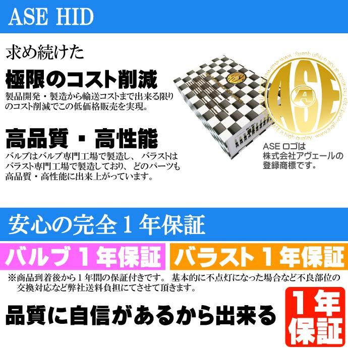 ASE HIDキットH1 35W 1年保証 極薄型バラスト as9001